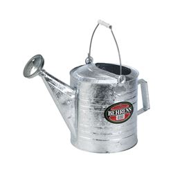 Behrens  8 qt. Galvanized Steel  Silver  Watering Can