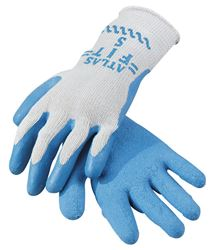 Atlas  Blue/Gray  Universal  Extra Large  Latex  Coated  Work Gloves