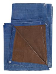 Ace  Blue/Brown  Medium Duty  Tarp  40 ft. W x 60 ft. L