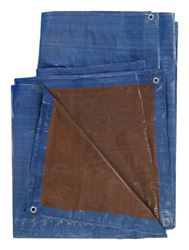 Ace  Blue/Brown  Medium Duty  Tarp  10 ft. W x 12 ft. L