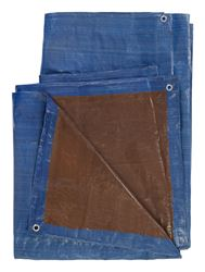 Ace  Blue/Brown  Medium Duty  Tarp  24 ft. W x 36 ft. L