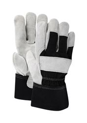 Ace  Black and Gray  Mens  Extra Large  Leather Palm  Work Gloves