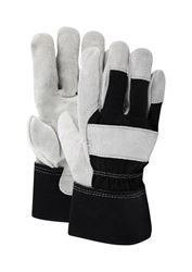 Ace  Black and Gray  Mens  Large  Leather Palm  Work Gloves