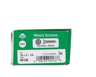 Hillman  Flat  Wood Screw  No. 10   x 2-1/4 in. L Zinc  Steel  100 pk