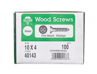 Hillman  Flat  Wood Screw  No. 10   x 4 in. L Zinc  Steel  100 pk