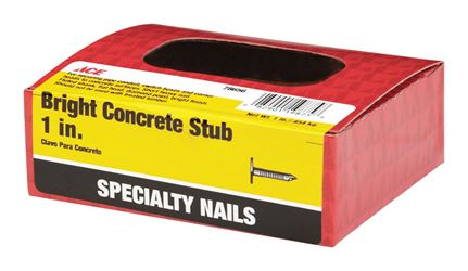 Ace  Flat  1 in. L Concrete  Nail  Fluted  Bright  1 lb.