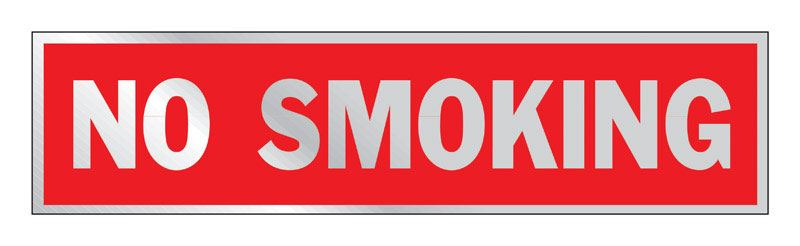 Hy-Ko  English  2 in. H x 8 in. W Aluminum  Sign  No Smoking