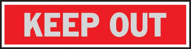 Hy-Ko  English  2 in. H x 8 in. W Aluminum  Sign  Keep Out