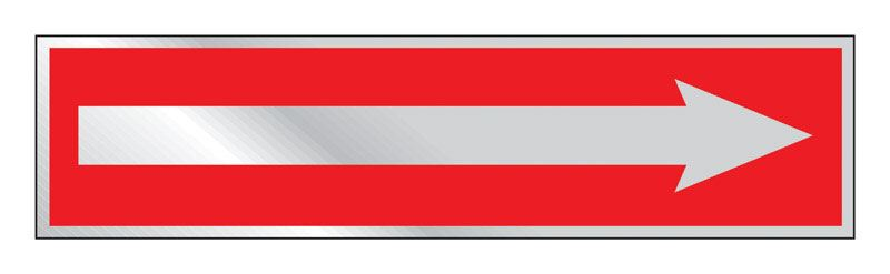 Hy-Ko  2 in. H x 8 in. W Aluminum  Sign  Arrow