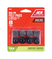 Ace  Felt  Round  Nail-On Heavy Duty Glide  Brown  7/8 in. W 8 pk