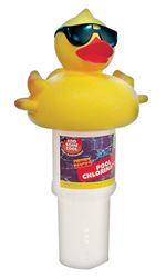 Great American Merchandise  Derby Duck  Floating Pool Chlorinator  3 in. H