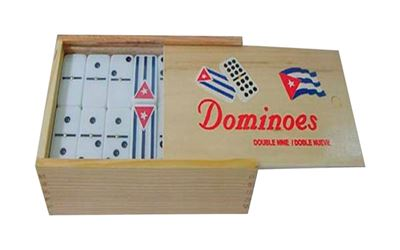 Bene Casa  Dominoes Double Nine in Wooden Box  1