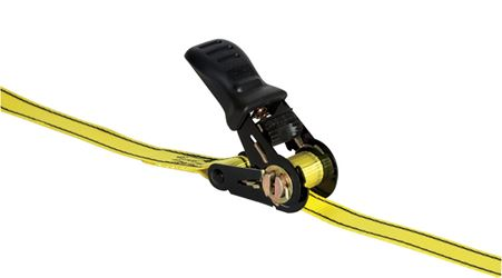 Pro Grip  Polyester  Standard  Tie Down  16 ft. L 1200  Black/Yellow