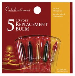 Celebrations  Incandescent  Mini  Replacement Bulb  Multicolored  5 pk