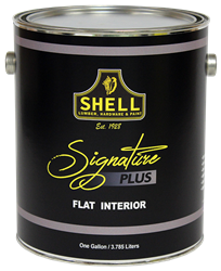 Shell Signature Plus Paint Flat Interior White Gallon