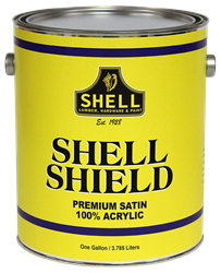 Shell Shield Paint Semi-Gloss  Exterior Accent Base Quart