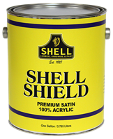 Shell Shield Paint Satin Exterior White Gallon